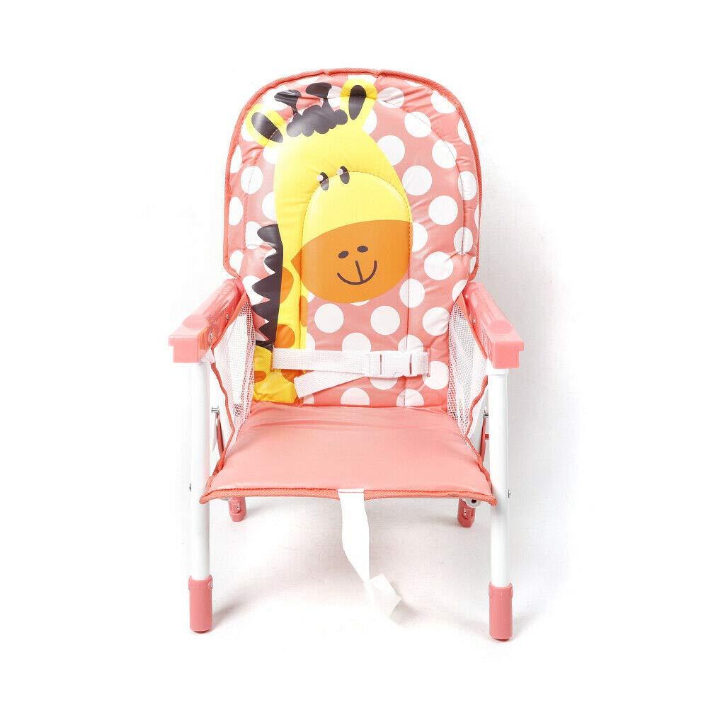 Babystuhl Tisch Kombination Klappbar Kinderhochstuhl Baby Hochst/ühle bis 14 kg Essstuhl Verstellba Kinder Mehrzweckstuhl Rosa
