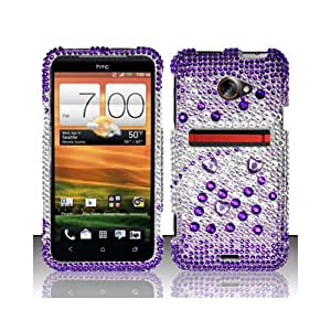 Purple Bling Gem Jeweled Crystal Cover Case for HTC EVO 4G LTE