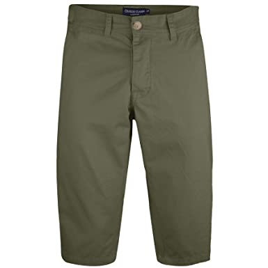 baef039f96f Mens Long 3 4 Chino Shorts Casual Summer Bottoms Cotton Below Knee Length  Pants  Amazon.co.uk  Clothing