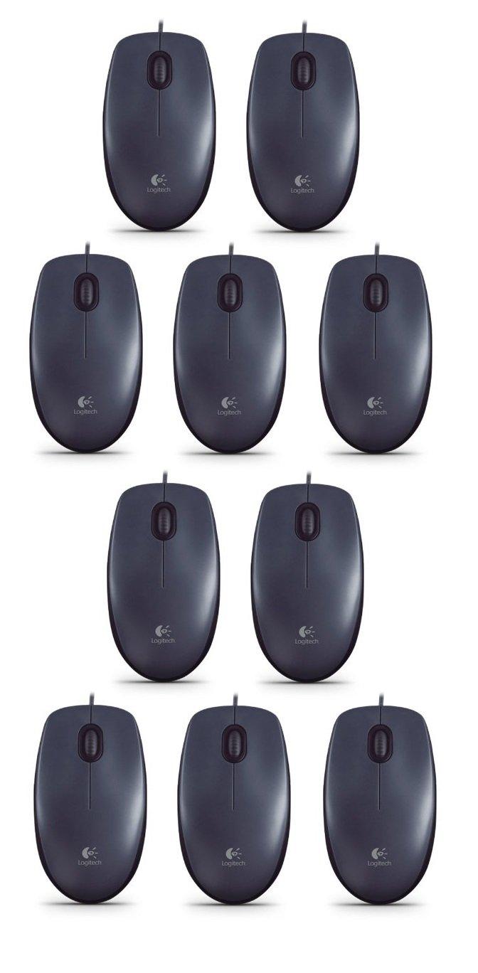 Logitech M90 Optische Maus Schnurgebunden Usb Schwarz Mouse B100 Computer Zubehr