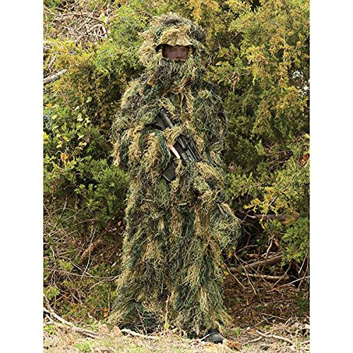 Red Rock Outdoor Gear Men's Youth Ghillie Suit, Woodland Camouflage, (Kid Ghillie Suit)
