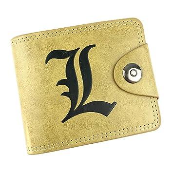 Cosstars Death Note Anime Cartera de Cuero Artificial Monedero Tríptico Billetera Clásico Portatarjetas para Hombre /1: Amazon.es: Equipaje