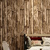 Blooming Wall Weathered Textured Wood Panel Wood Plank Wallpaper Wall Mural for Bathroom Kitchen Livingroom,Large Size,57 Square ft/roll (981003)