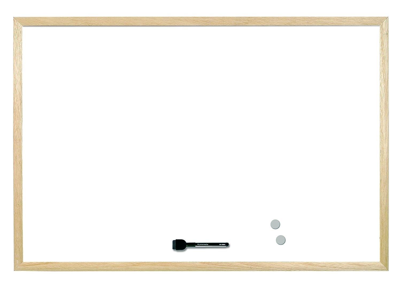Magnetic Wood Frame 60 x 40 cm Bi-Office Whiteboard Budget
