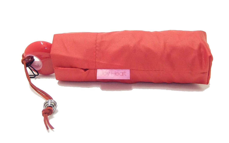 Paraguas Plegable de Mujer Liso Joy Heart 950 - Rojo: Amazon.es: Equipaje