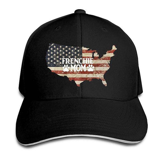 5006fe77a Frenchie Mom US Flag Sandwich Hats Baseball Cap Hat Snapback Hat Dad ...