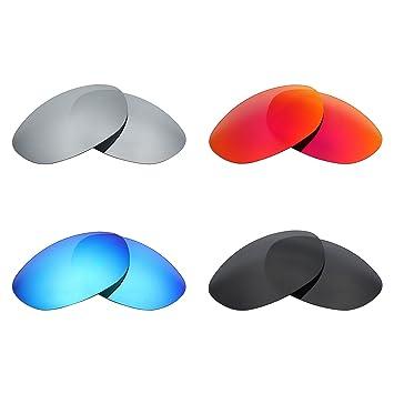 MRY 4 pares polarizadas lentes de repuesto para Wiley X AirRage sunglasses-stealth negro/