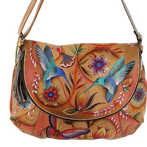 Convertible LL Flying tan Anuschka Flap Large Jewels Over Ixtaaq