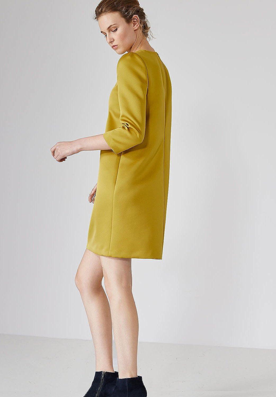 HALLHUBER Satin dress with three-quarter sleeves