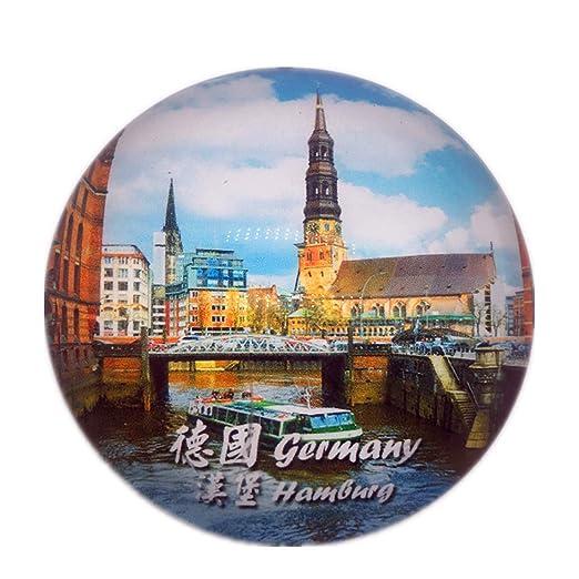 Weekinglo Souvenir Hamburgo Alemania Nevera Nevera Ciudad Mundo ...