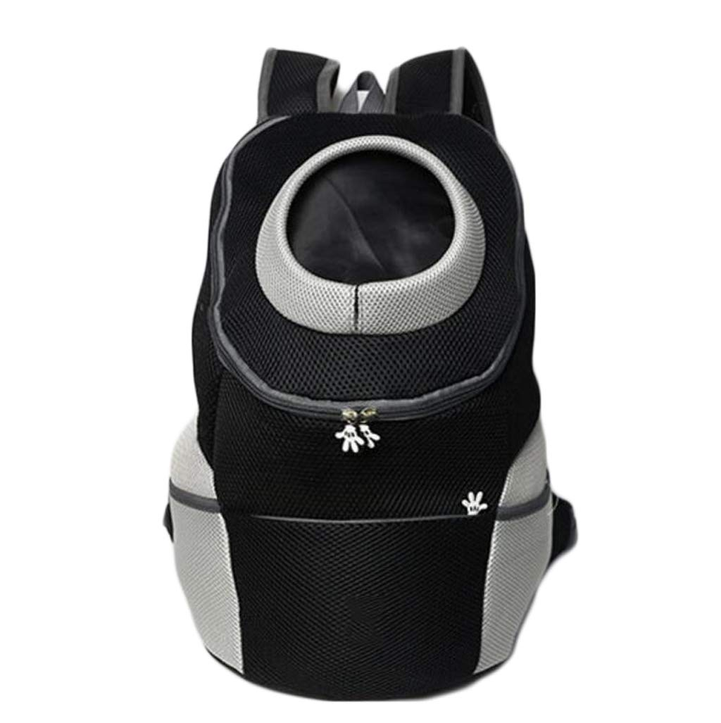 BLACK GHGJU Fashion Pet Out Shoulder Bags Chest Backpack Outing Carrying Case Pet Supplies (color   BLACK)