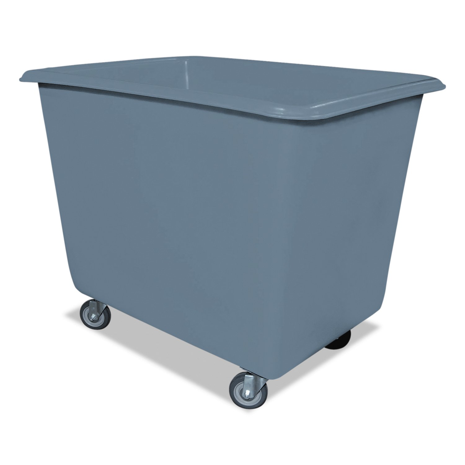 Royal Basket Trucks R6GRXPGA4UN 6 Bushel Poly Truck with Galvanized Steel Base, 24'' x 34'' x 26'', 800 lb. Capacity, Gray