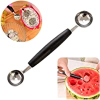 Outgeek Fruit Scoops Double Sided Manual Creative Stainless Steel Melon Ballers Fruit Ballers for Fruit Ice Cream