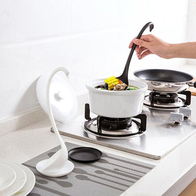 Cucharas de sopa de pl/ástico con mango de cuchar/ón de cisne cuchara sopera en forma de cisne Cuchara de pl/ástico para cocina vajilla y accesorios de cocina color blanco