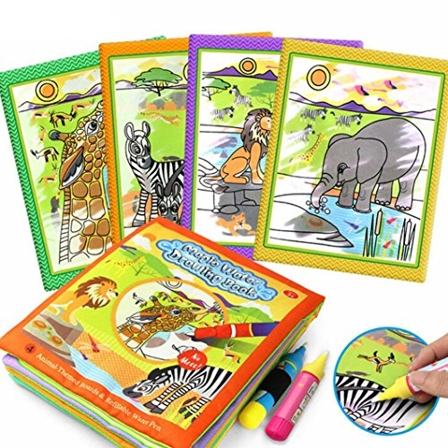 Aquadoodle Mini Mats (Education Toy ,Livoty Drawing Water Pen Painting Magic Doodle Mat Board Kids Toy (B))