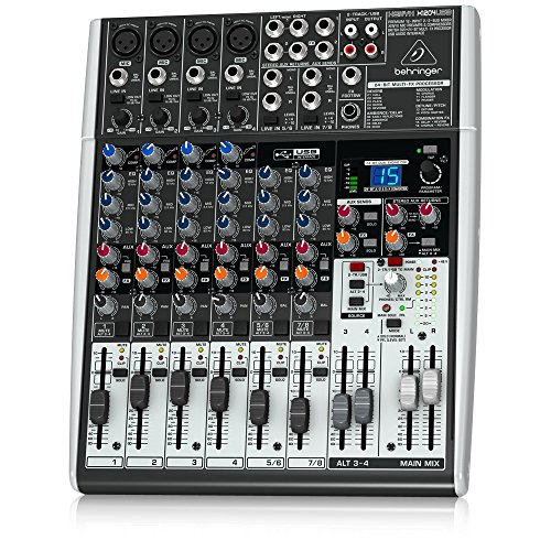 Behringer Xenyx X1204USB Premium 12-Input 2/2-Bus Mixer with USB/Audio Interface (Best Bus Powered Audio Interface)