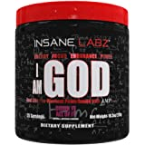 Insane Labz I am God Pre Workout, High Stim Pre Workout Powder Loaded with Creatine and DMAE Bitartrate Fueled by AMPiberry,