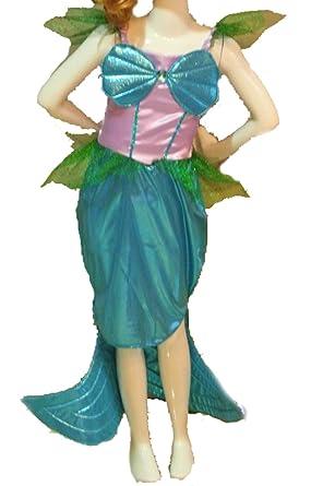 Chica de Carnaval Disfraz-sirena diseño de vestido, azul-verde, 4 ...