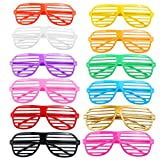 Tinksky Shutter Shades Glasses Halloween Club Party Cosplay Props ,24 Pairs(Random Color)