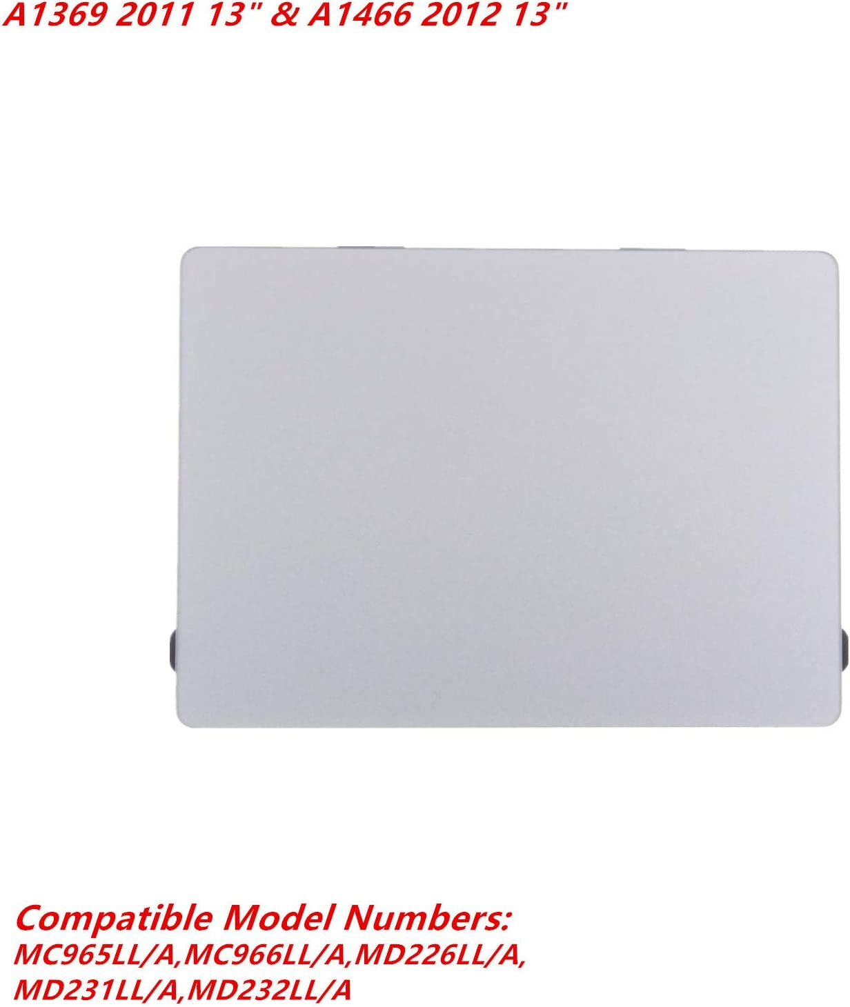 YIIKII Replaceme Trackpad Touchpad for MacBook Pro Retina 13 Unibody A1708 Touch Pad with Flex Cable Fit 2016-2017 Version Silver A1708 2016-2017 13 with Cable