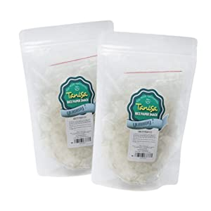 Rice paper snacks from TANISA, ingredients to mix rice papers salad, DIY mixture of rice paper fibers with seasonings - Vietnamese famous street food - Banh trang tron (Pure pack, 2 packs-80g/pack)