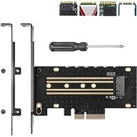 Antec NVMe Adapter M.2 PCIe SSD naar PCI-e x4 x8 x16 Converter Card met Heatsink voor M.2 (M Key) NVMe SSD 2280/2260…
