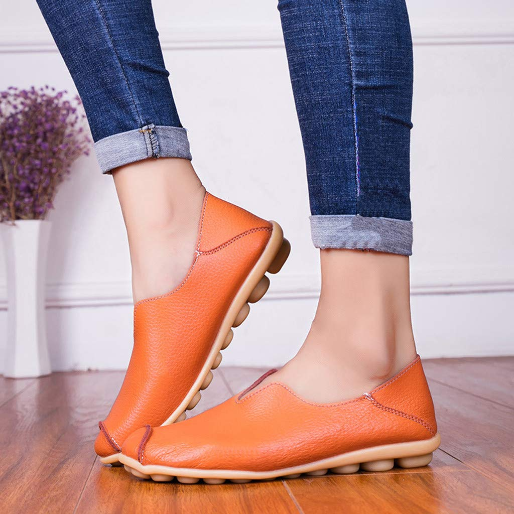 Femmes Escarpins,Bout Rond Solide Couleur Slip-on Chaussures Plates Chaussures Simples Pois Chaussures Bateau Derbys Mocassins