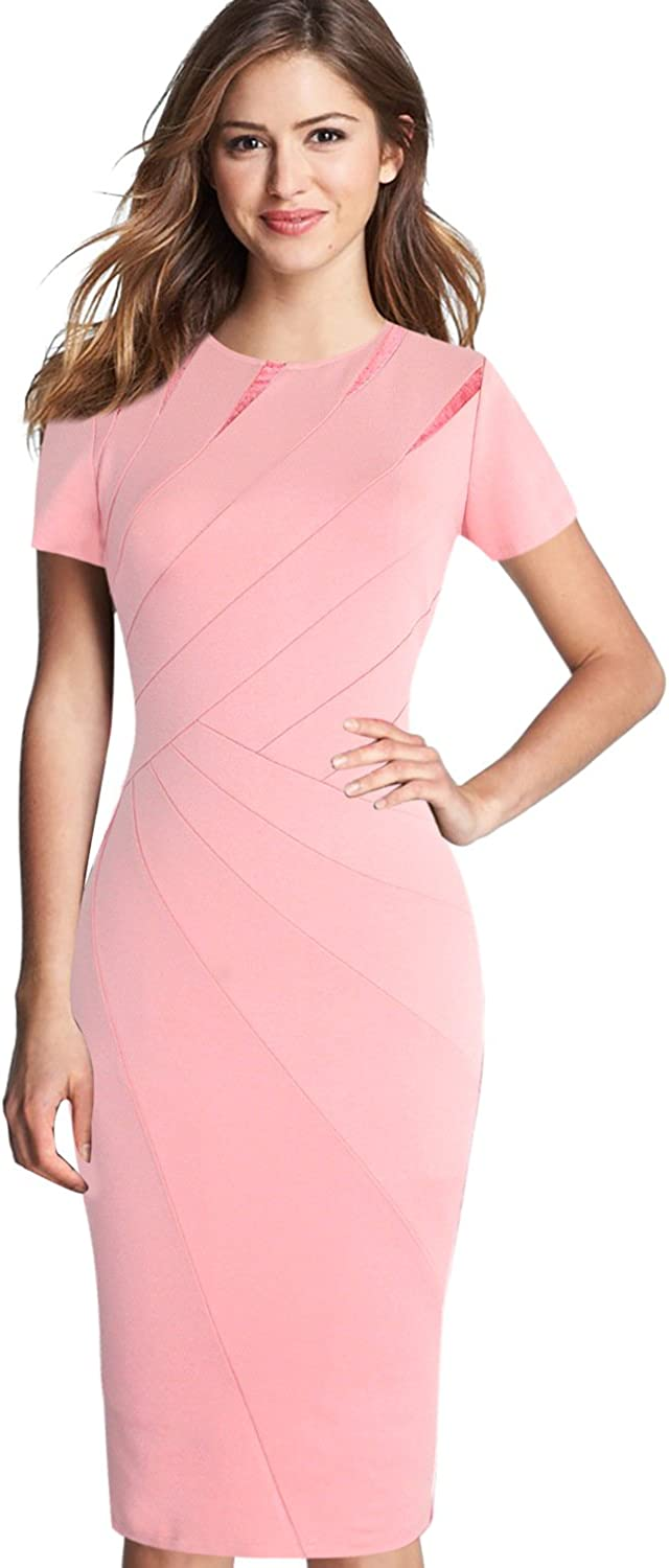 Top 7 Pink Office Sheath Dress
