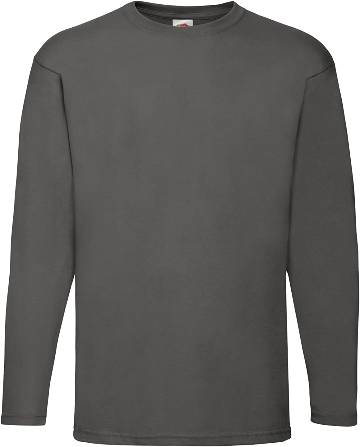 Fruit of the Loom Mens Long Sleeve Value T Shirt Light Graphite XL