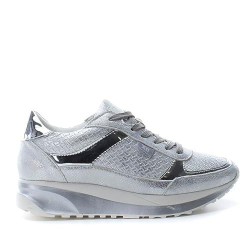 XTI 046935, Zapatillas para Mujer, Plateado (Silver), 39 EU: Amazon.es: Zapatos y complementos