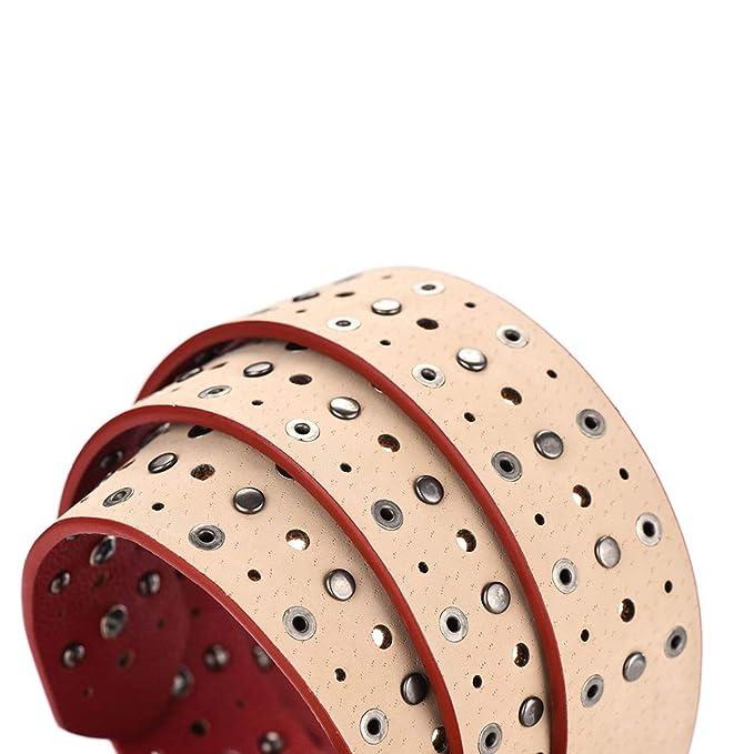 Amazon.com: Xiang Ru Chic remaches de piel sintética anchos ...