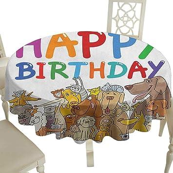 Amazon.com: Mantel redondo para fiestas de cumpleaños de ...