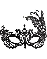 WINK KANGAROO Women's Laser Cut Metal Venetian Masquerade Crown Mask