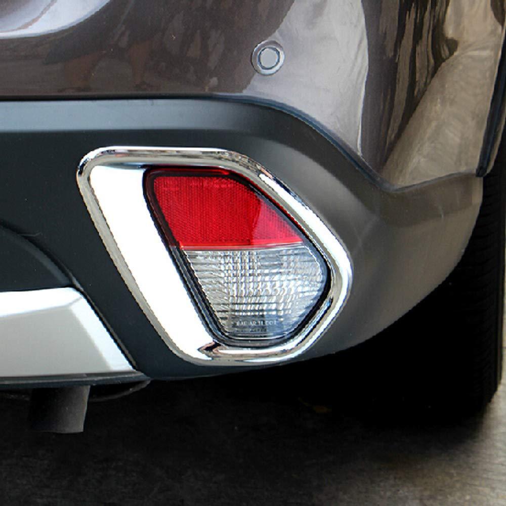 Cubierta trasera de la luz antiniebla del coche ABS cromo 2pcs//set