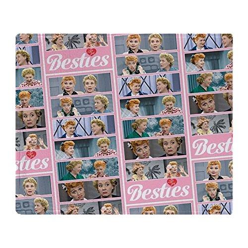 CafePress I Love Lucy: Pattern Soft Fleece Throw Blanket, 50