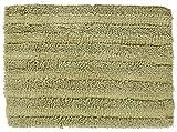 Chesapeake Merchandising 37404 Striped Cotton Reversible Bath Rug (6 Pack), 30'' x 50'', Bottle Green