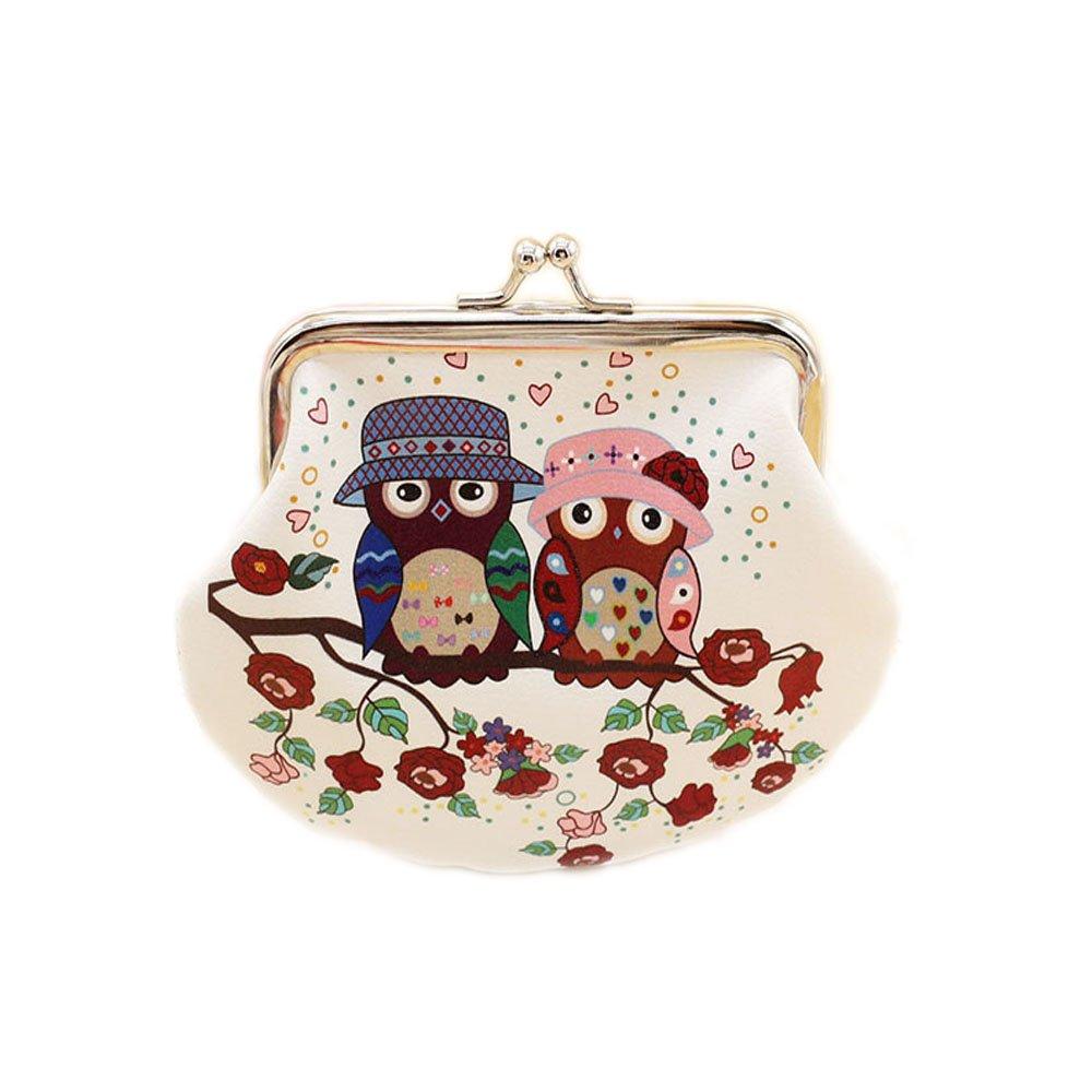 Ca Outflower PU Eule Rei/ßverschluss Kosmetiktasche Geldtasche Geldbeutel Tasche Portemonnaie umlaufende mit Design gro/ß f/ür Damen 14cmX9.5cm
