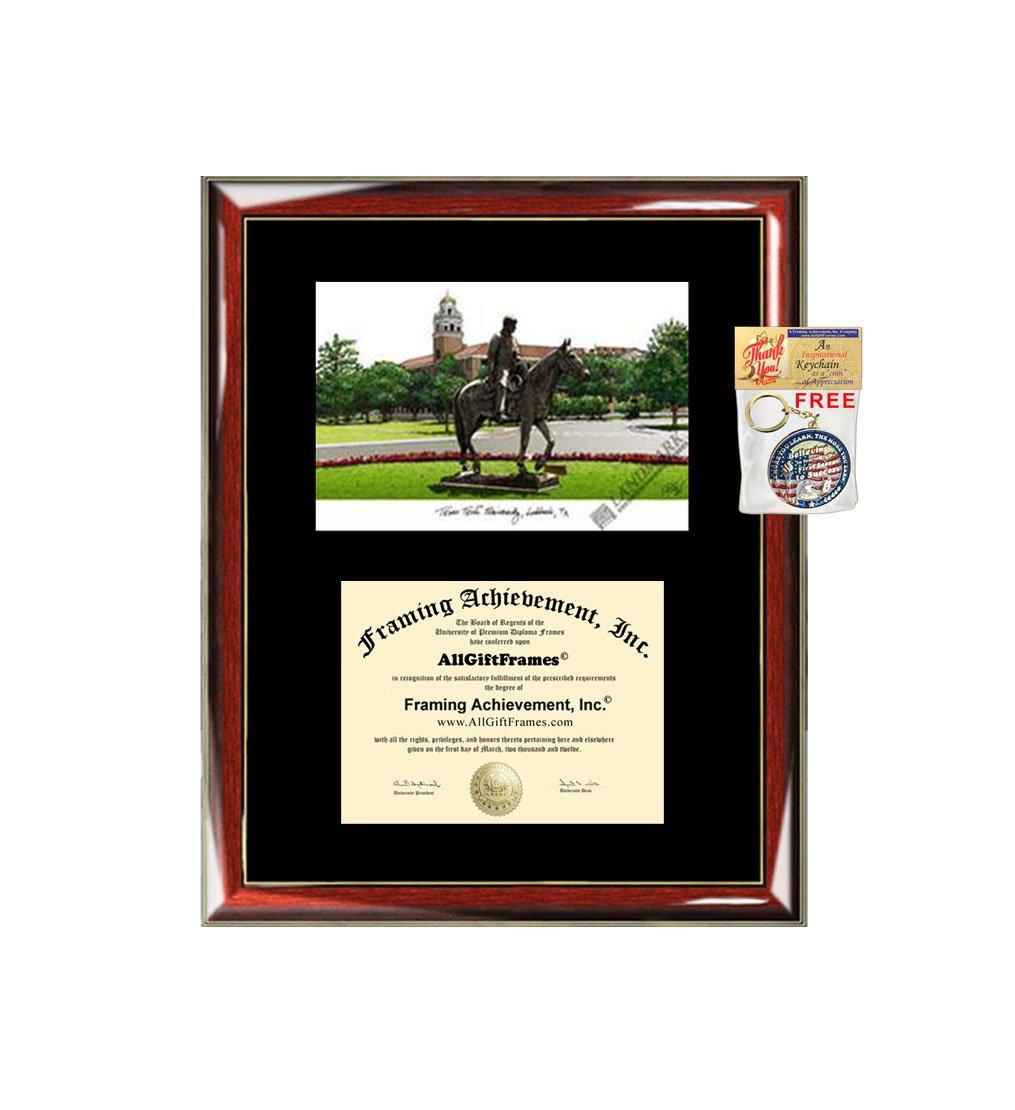 Texas Tech Universität Diplom Rahmen Druckvorlage von TTU Grad ...
