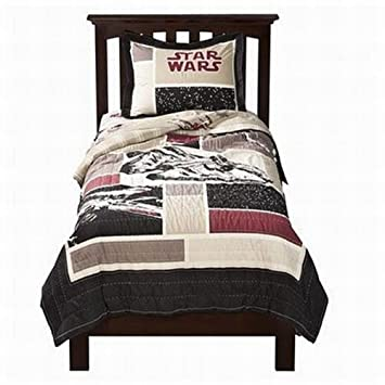 Amazon.com: Star Wars Embroidered Quilt Set  Upscale Version   Full/Queen  Size: Home U0026 Kitchen