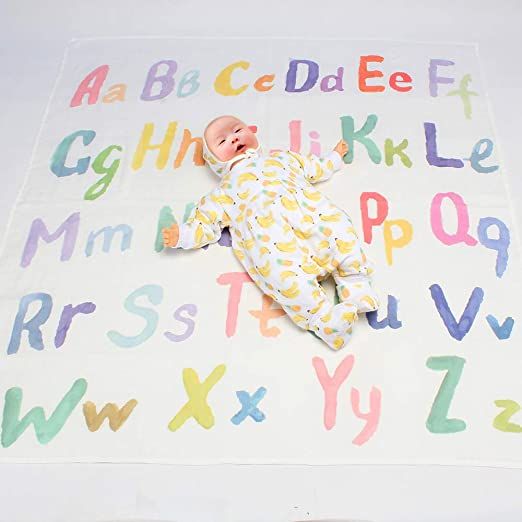 """Newborn Baby Letter Milestone Blankets for Photography Photo Props Shoots 47*47/"""""""