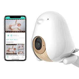 Cubo Ai Plus Smart Baby Monitor: Sleep Safety Alerts for Covered Face, Danger Zone & Sleep Analytics - 1080p HD Night Vision Camera, 2-Way Audio, Cry & Temperature Detection (Incl. 3 Stand Options)