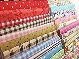 levylisa 200 PCS 4'' x 4''100% Precut Cotton Fabric Bundles, DIY Sewing Quarters Bundle, Cotton Quarter Fabric Bundle, Precut Fabric, Quilting Fabric Bundles, Precut Quilt Kit, Vintage Sheet Supply