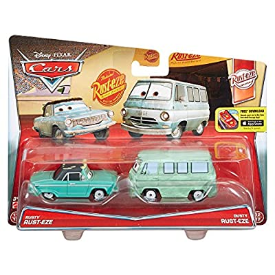 Disney Pixar Cars Diecast Character Car 2-Pack, Rusty & Dusty: Toys & Games