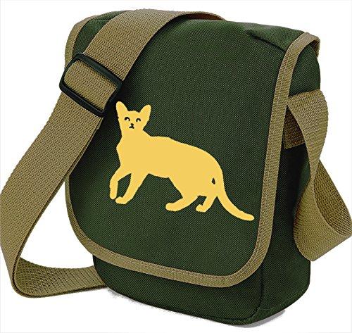 Bag Pixie Bolso al hombro de poliéster para mujer S Beige Cat Olive Bag