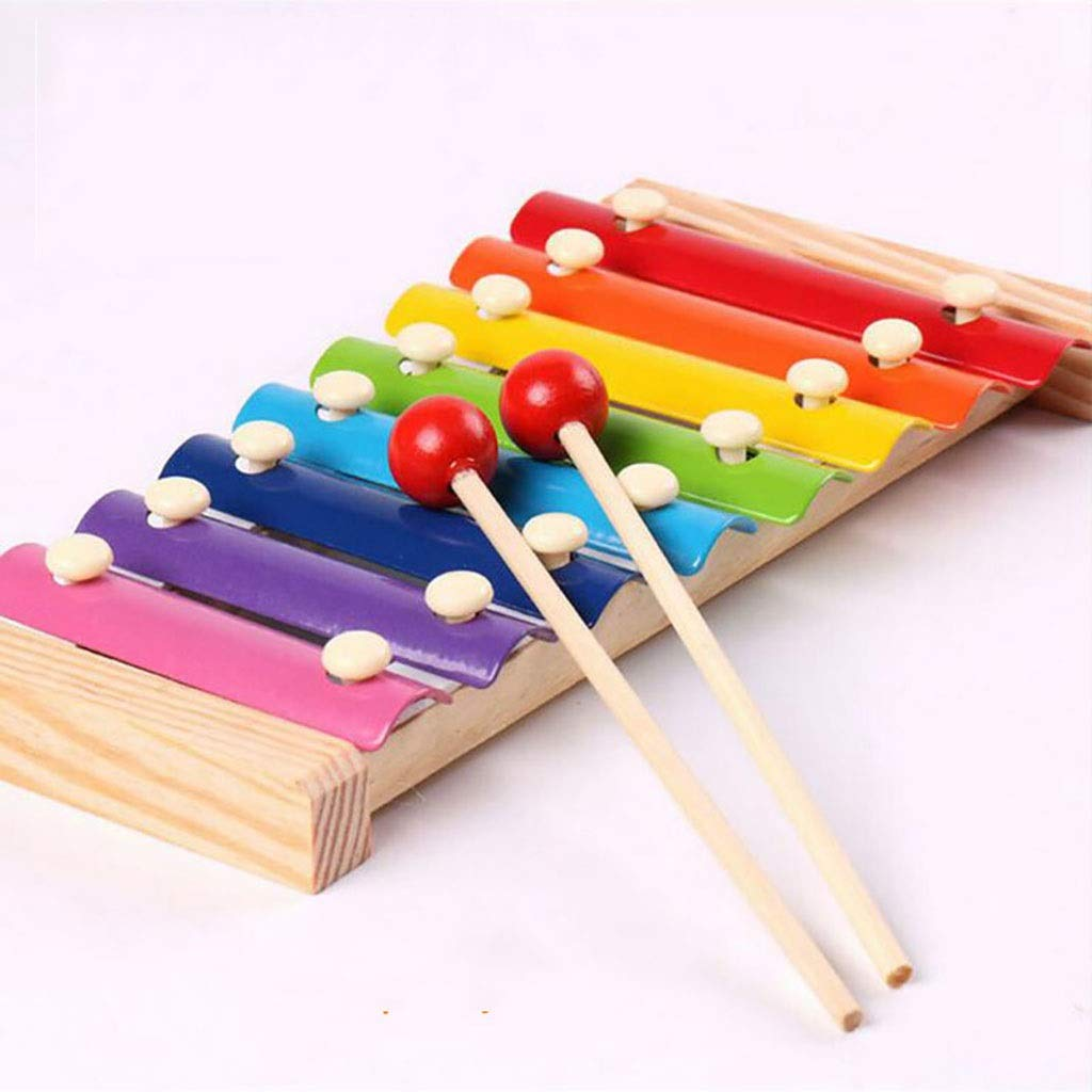 Zxq Infant Children Wooden Octave Hand Knocking Piano Early Education Baby Puzzle Musical Toy 1-3 Years Old Mini Wood Knocking Piano by Zxq
