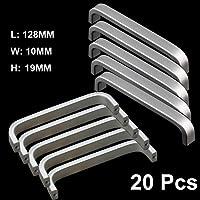 Qrity 20 Stücke Aluminiumlegierung Knöpfe Küche Schrank Schrank Schublade Türgriffe ziehen Griff (128MM)