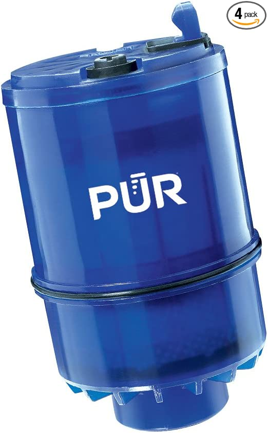 PUR Faucet Mount Water Filtration System Gray /& RF9999 MineralClear Faucet Water Filter Replacement for Filtration Systems 3Count 2 Count Blue Small 2 Pack