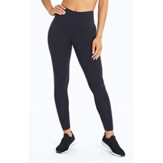 Bally Total Fitness Women's High Rise Tummy Control Legging, Black, Large