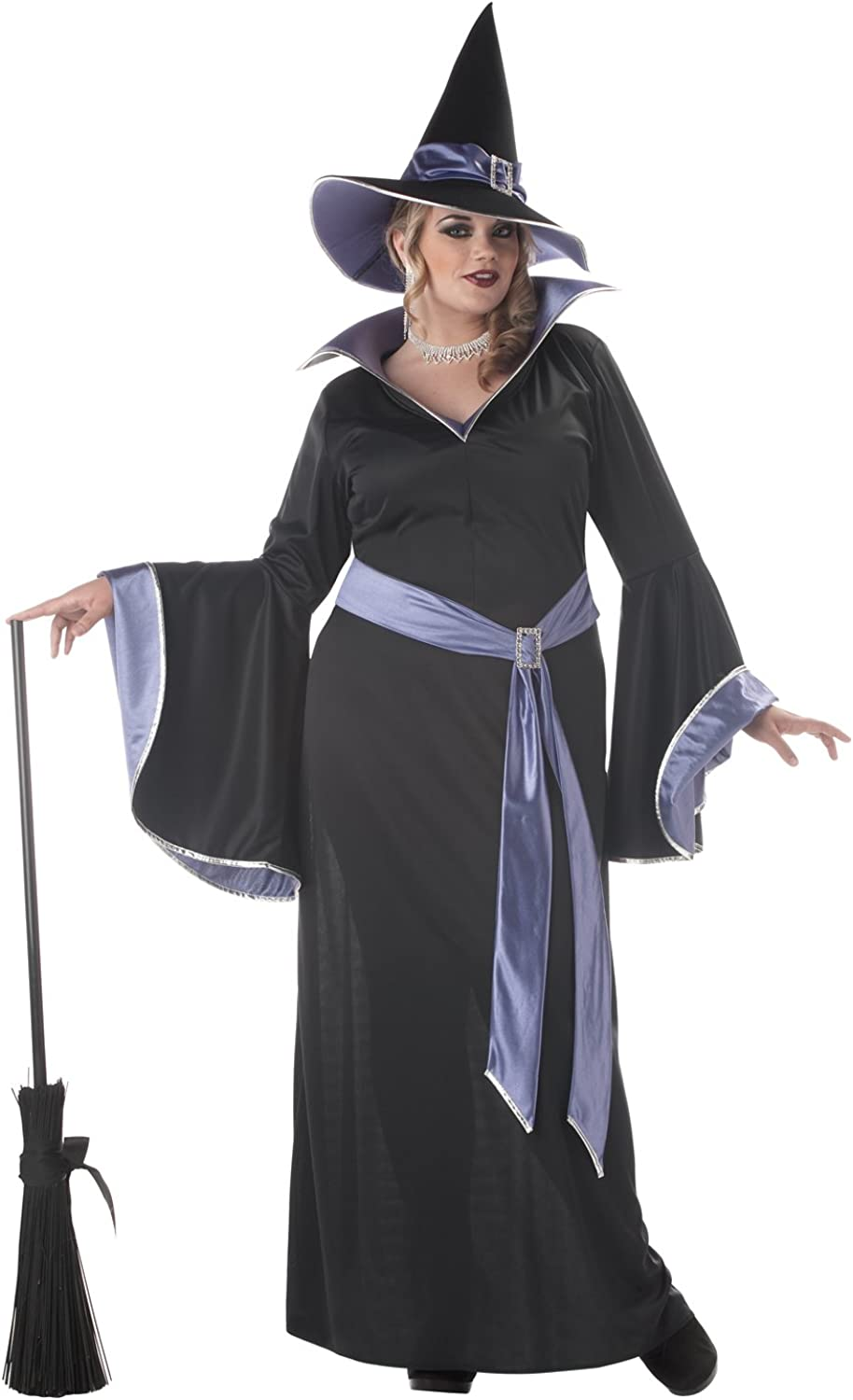 Adult Womens Plus The Glamour Witch Costume