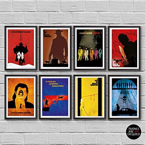 Quentin Tarantino Movies Minimalist Poster Set 8 The Hateful